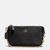 COACH Nolita 19 in. Wristlet in Polished Pebble Leather