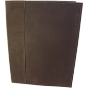 Piel Leather Letter Size Padfolio with Organizer