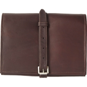 Piel Leather Tri Fold Buckle Toiletry Kit