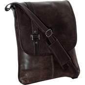 Piel Leather Vintage Laptop Vertical Slim Messenger