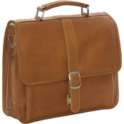Piel Leather Small Flap Over Laptop/Tablet Brief