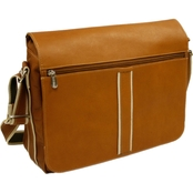 Piel Leather 4 Section Urban Messenger Bag