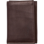 Piel Leather Large Tri Fold Wallet