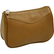Piel Leather Carry All Zip Pouch
