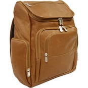 Piel Leather Multi Pocket Laptop Backpack