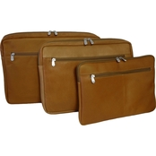 Piel Leather 15 in. Zip Laptop Sleeve