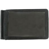 Piel Leather Bifold Money Clip With ID Window