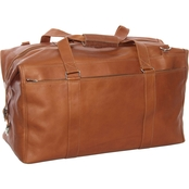 Piel Leather Extra Large Zip Pocket Duffel