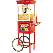 Nostalgia Electrics Popcorn Cart with Concessions Window