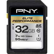 PNY 32GB Elite Performance Class 10 95MB/sec Memory Card