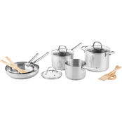 Martha Stewart Collection Stainless Steel 12 Pc. Cookware Set