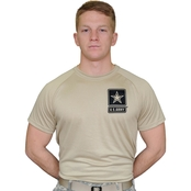 Sayre Mens ZTEK Screen-Print Army Logo Tee