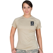 Sayre Womens ZTEK Screen-Print Army Logo Tee