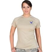 Sayre Womens ZTEK Screen-Print Air Force Logo Tee