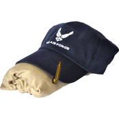 Sayre Mens Embroidered Air Force Logo Cap, ZTEK Tee and Bullet Hat Clip Set