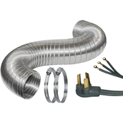 Certified Appliance 5 ft. Dryer Duct Kit with 6 ft. 3 Wire Cord