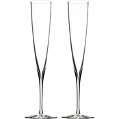 Waterford Elegance 2 pc. Champagne Trumpet Glass Set