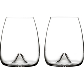 Waterford Elegance 2 pc. Stemless Wine Glass Set