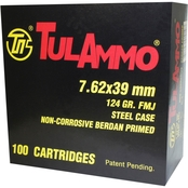TulAmmo 7.62x39 124 Gr. FMJ, 40 Rounds