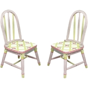 Fantasy Fields Crackled Rose 2 pc. Chair Set