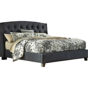 Ashley Kasidon King Tufted Upholstered Bed
