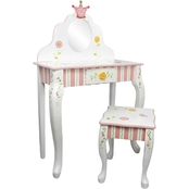 Fantasy Fields Princess and Frog Vanity Table and Stool Set