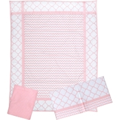 Trend Lab Pink Sky 3-Piece Crib Bedding