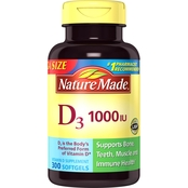 Nature Made Vitamin D3 1000 IU Liquid Softgels 300 Pk.