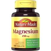 Nature Made Magnesium 250 mg Tablets 100 Ct.
