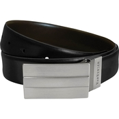 Van Heusen Big & Tall 35mm Nickel Plaque Twist Reversible Buckle Belt