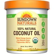 Sundown Naturals Organic Coconut Oil 16 Oz.