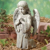Joseph Studio Celtic Kneeling Angel Garden Statuary