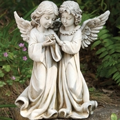 Joseph's Studio Angels with Bird Garden Statuary