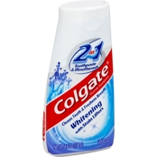 Colgate 2 in 1 Whitening Toothpaste Gel and Mouthwash 4.6 oz.