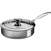 Le Creuset Stainless Steel Saute Pan With Lid