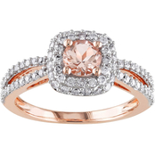 Sofia B. 14K Pink Gold 1/2 CTW Diamond and Morganite Fashion Ring