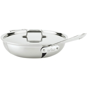All-Clad d5 Brushed Stainless Steel 4 Qt. Weeknight Pan With Lid