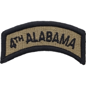 Army Tab Fourth Alabama Velcro Subdued (OCP)