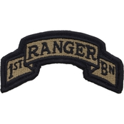Army Tab United States Army Scroll 75th Ranger First Battalion Velcro Subdued (OCP)