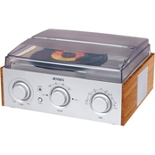 Jensen 3 Speed Stereo Turntable with AM/FM Radio and Built In Speakers