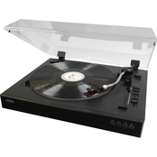 Jensen Professional 3 Speed Stereo Turntable with Pitch Control and Software