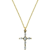 Symbols of Faith 14K Goldtone Cross Pendant
