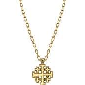 Symbols of Faith 14K Goldtone Jerusalem Cross Pendant