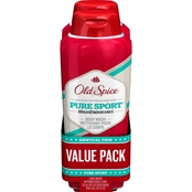 Old Spice Pure Sport Body Wash Twin Pack