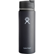 Hydro Flask 20 oz. Wide Mouth Bottle Flip Lid, Black