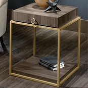 Sauder Lux Side Table with Drawer