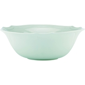 Lenox French Perle Bead Ice Blue Serving Bowl