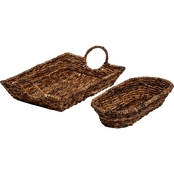 Creative Home Abaca Serving Trays 2 pc. Set