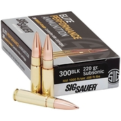 Sig Sauer Elite Performance Match .300 AAC Blackout 220 Gr. Open Tip Match, 20 Rd.