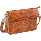 Gun Tote'n Mamas Tooled American Cowhide Clutch Crossbody CCW Handbag